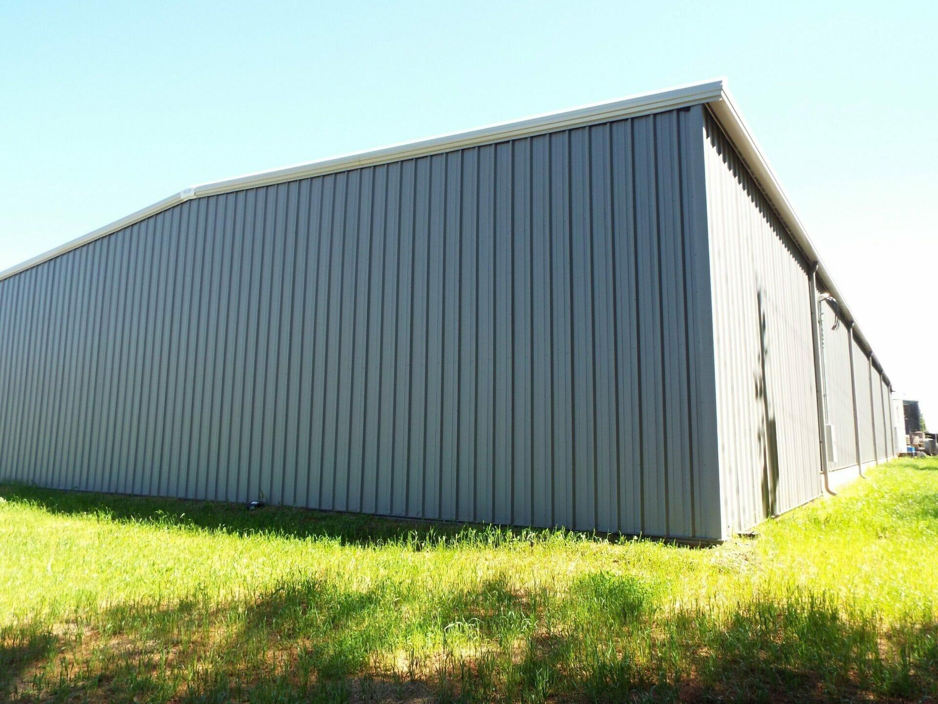 Large Pre-Engineered Steel Building Rear View