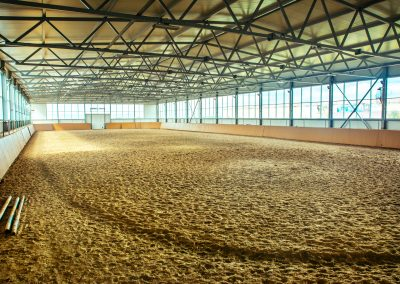 Large Pre-Engineered Metal Horse Arena Interior With Steel Beams