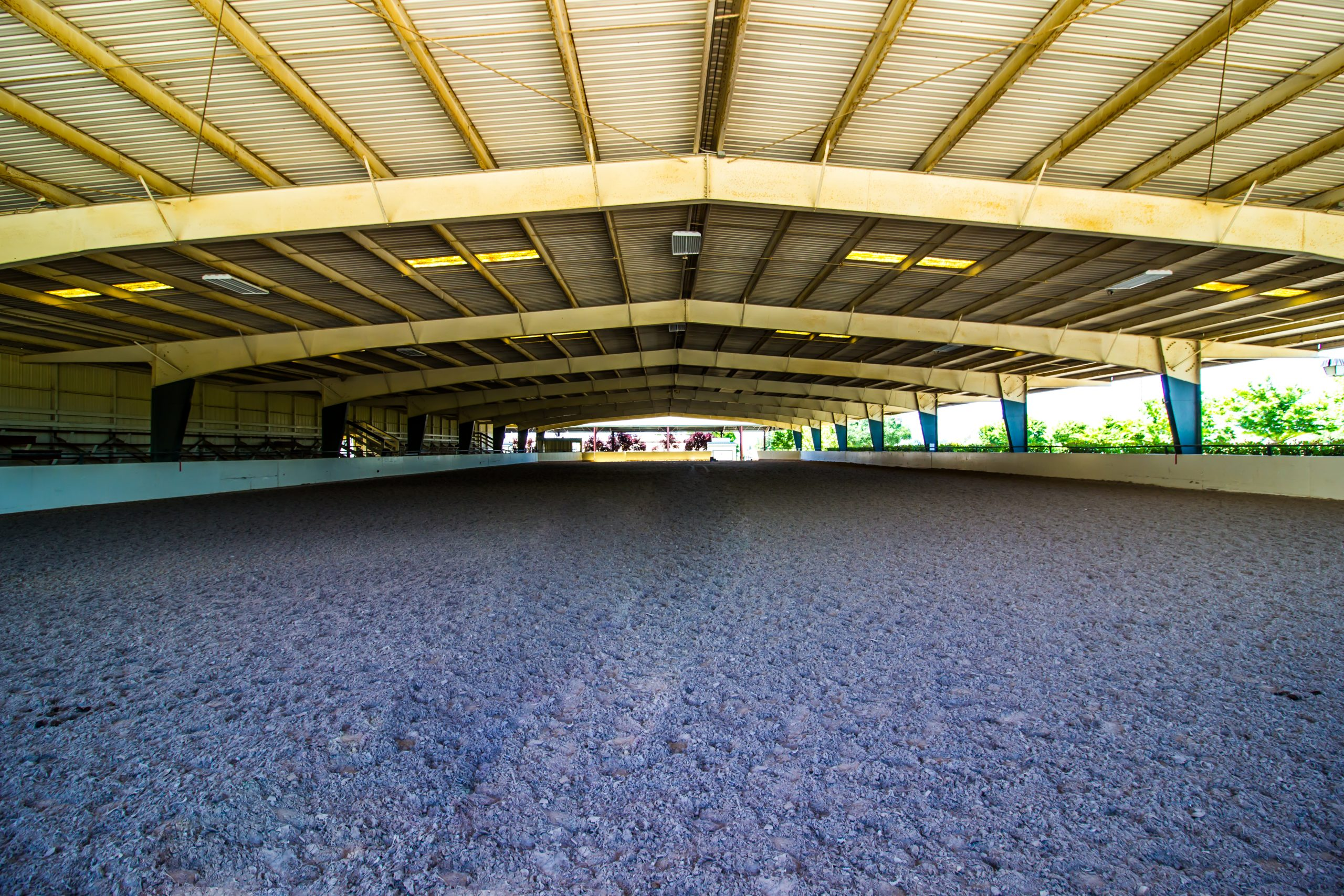 Steel Frame Clear Span Horse Arena With Seating