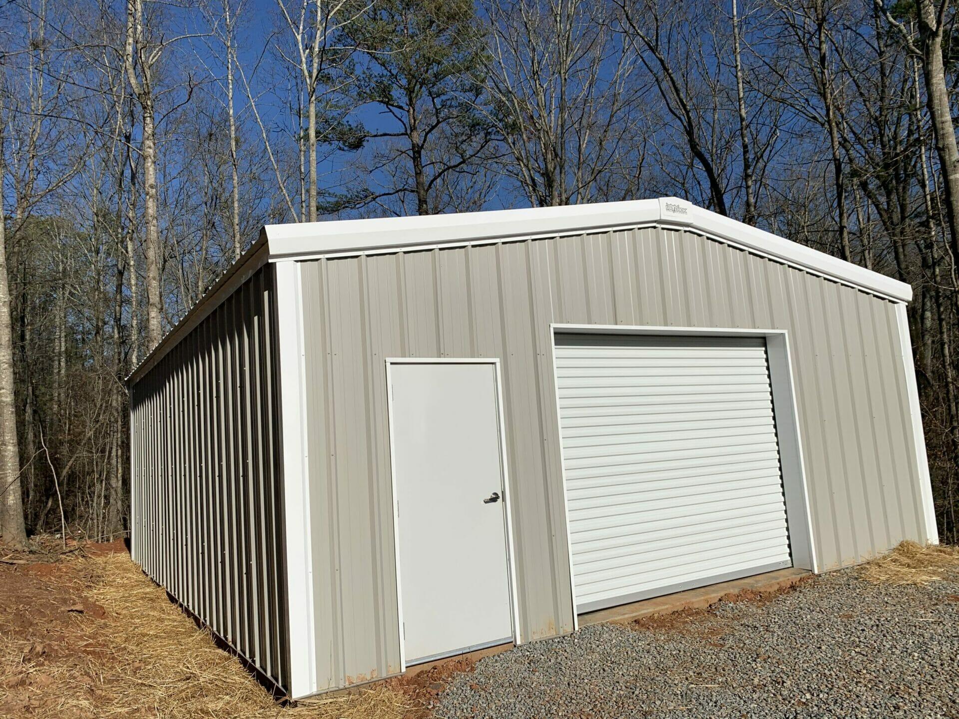 Pre-Engineered 30x40 Metal Garage Building With Roll Up Garage Door And Standard Door