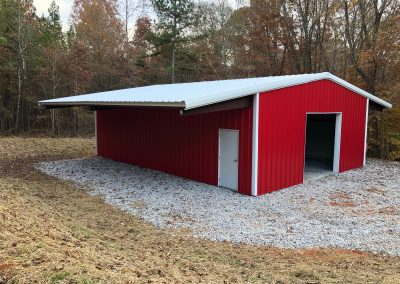 Pre-Engineered Metal Barn With Indoor And Outdoor Storage