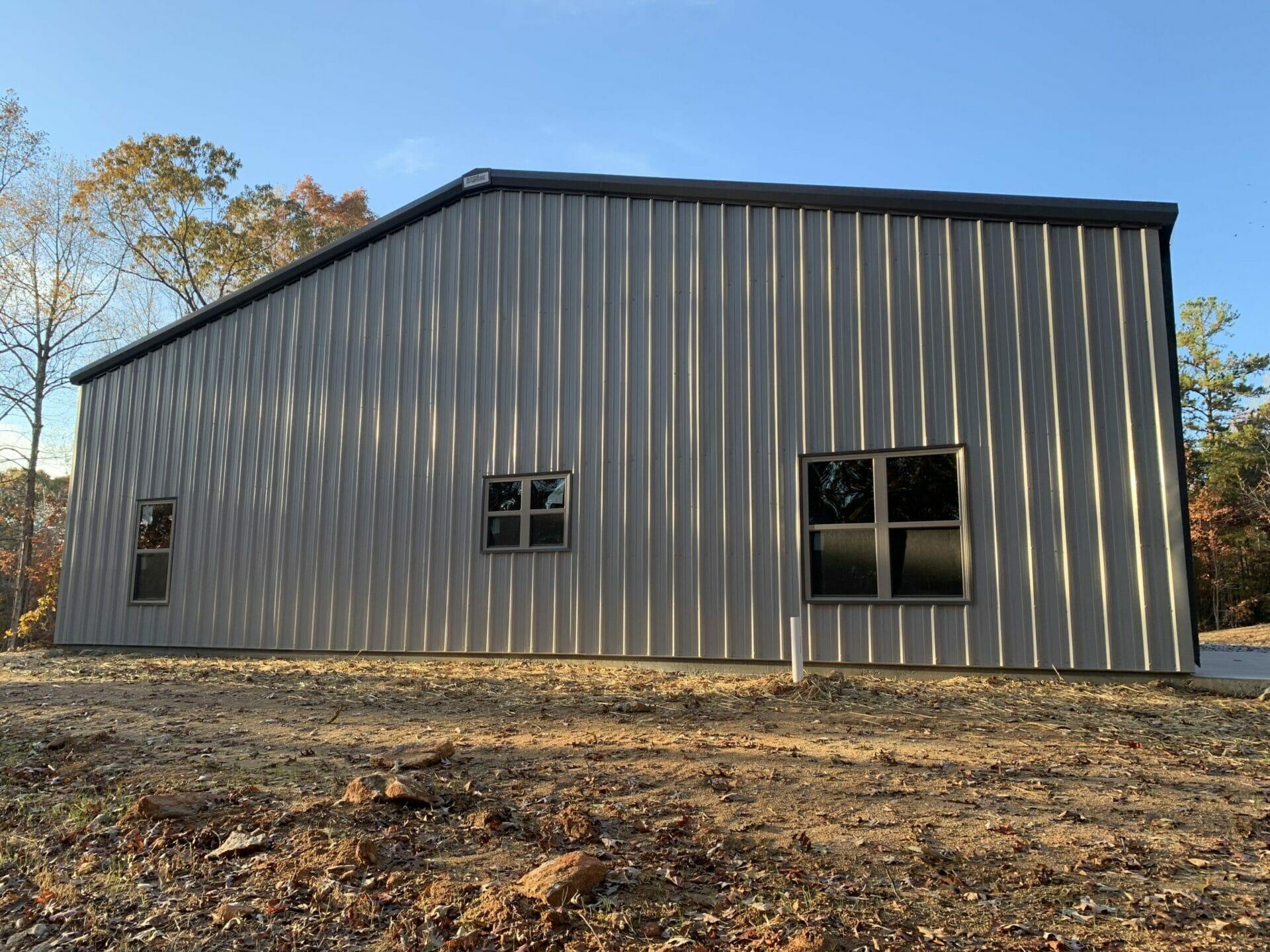 Pre-Engineered Metal Building With Custom Windows