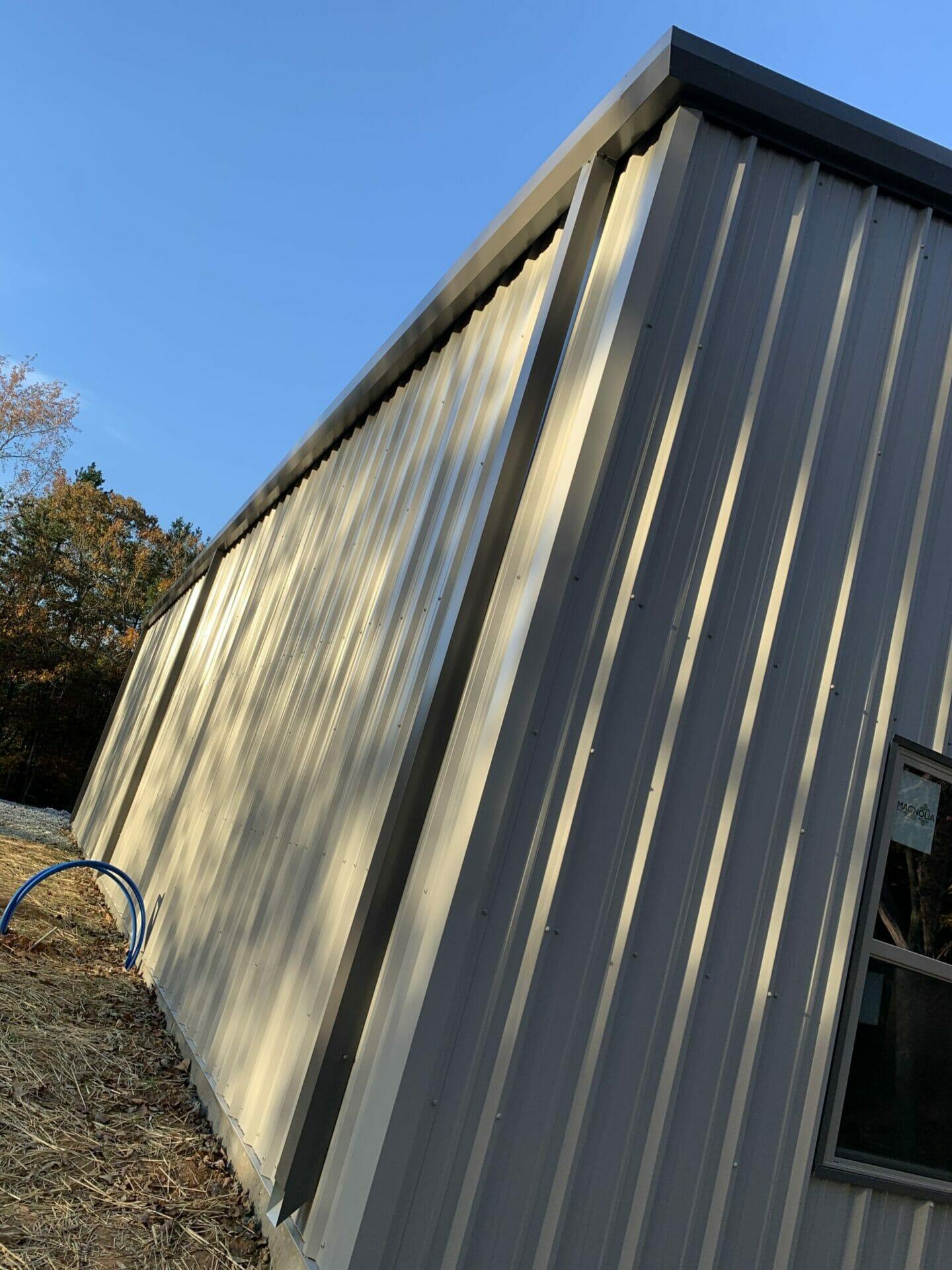 Pre-Engineered Metal Building Side View