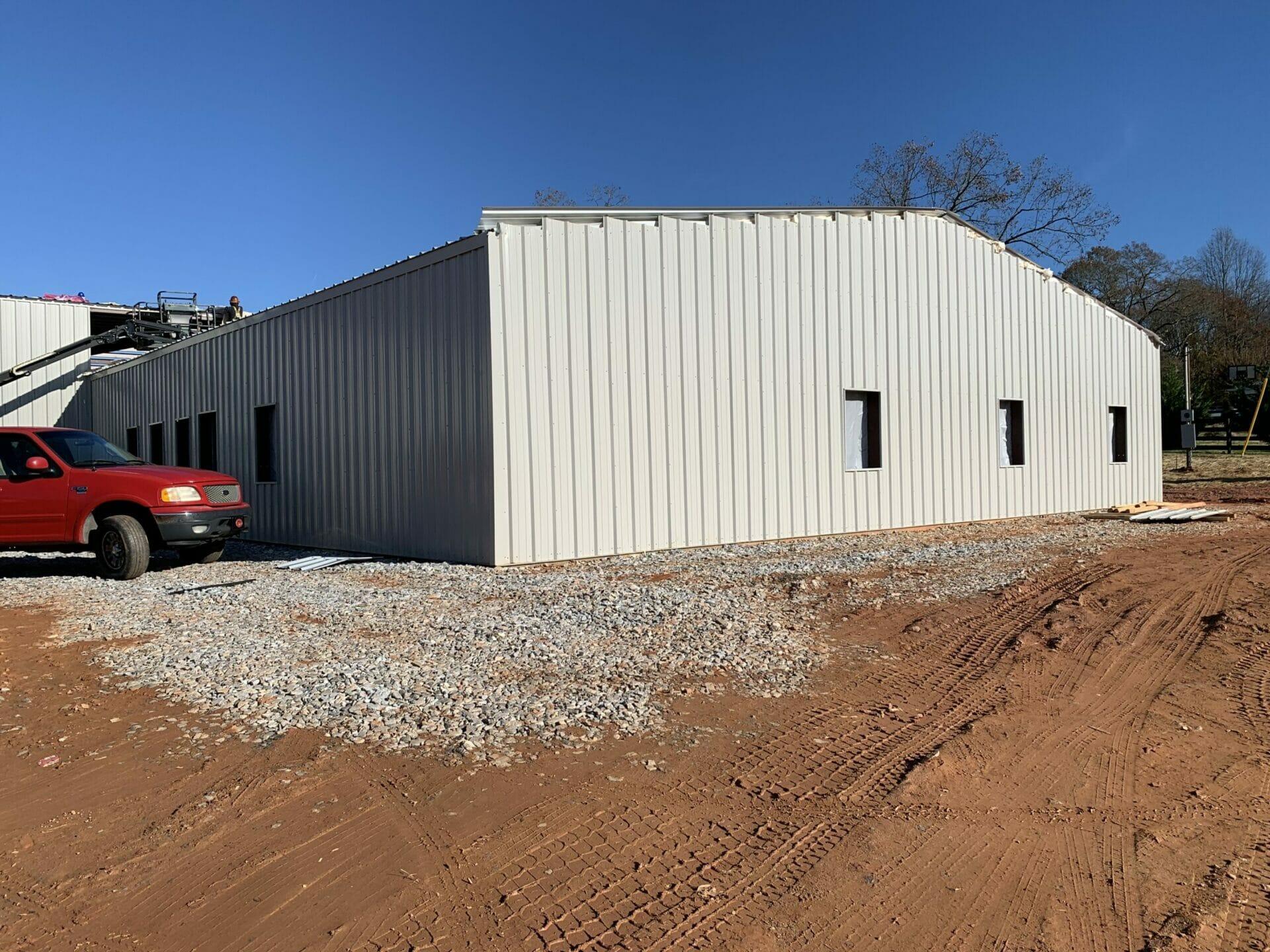 Steel Frame Industrial Building Kit With Custom Doors And Windows
