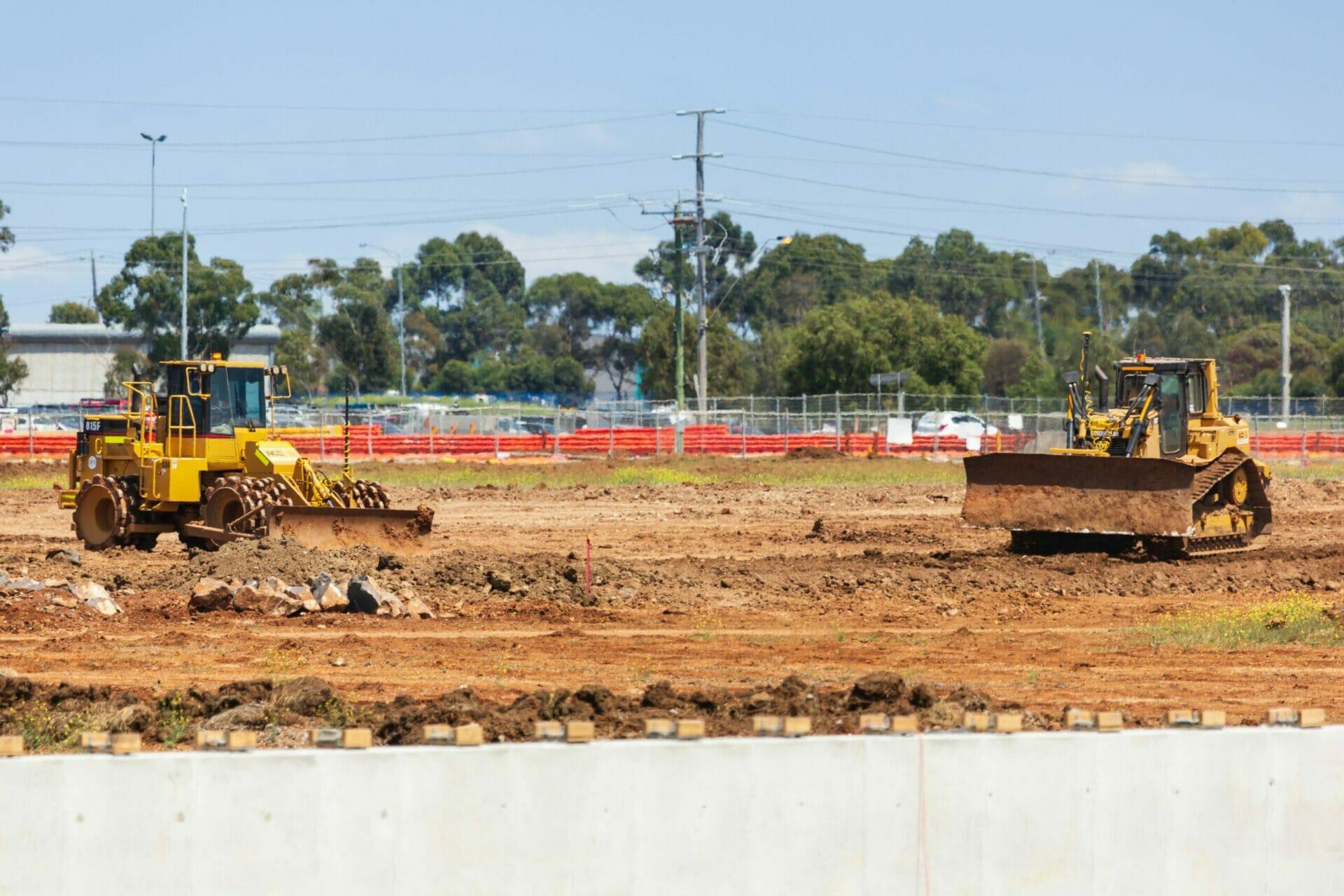 land grading for steel building construction (3)