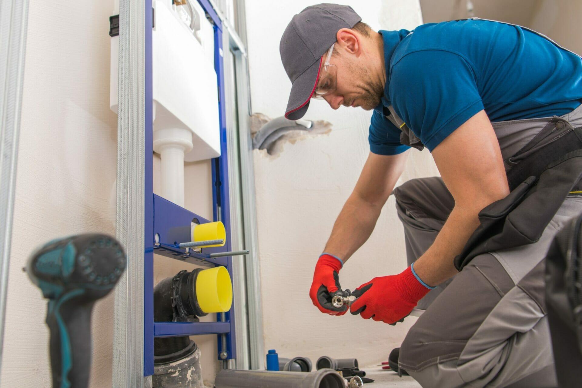 Sanitary Plumbing Installer for steel buildings