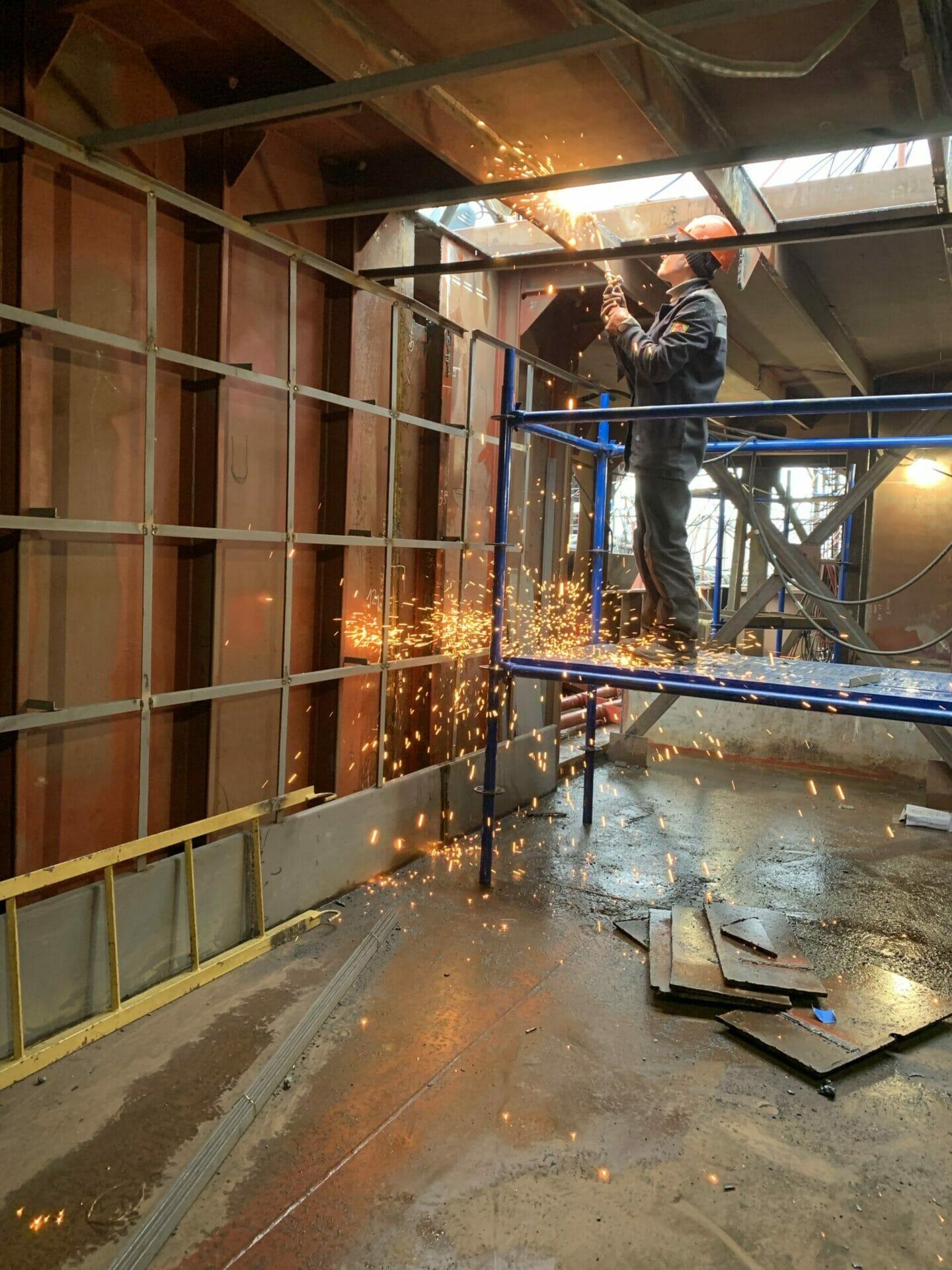 welding steel building materials