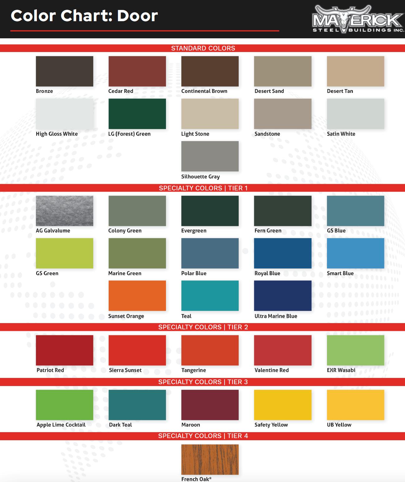 Steel Building Door Colors