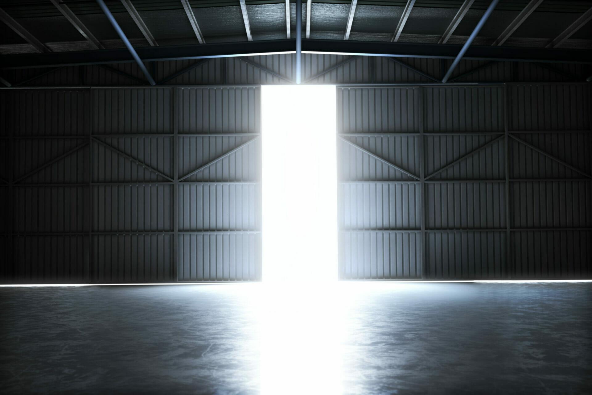 steel building hangar doors
