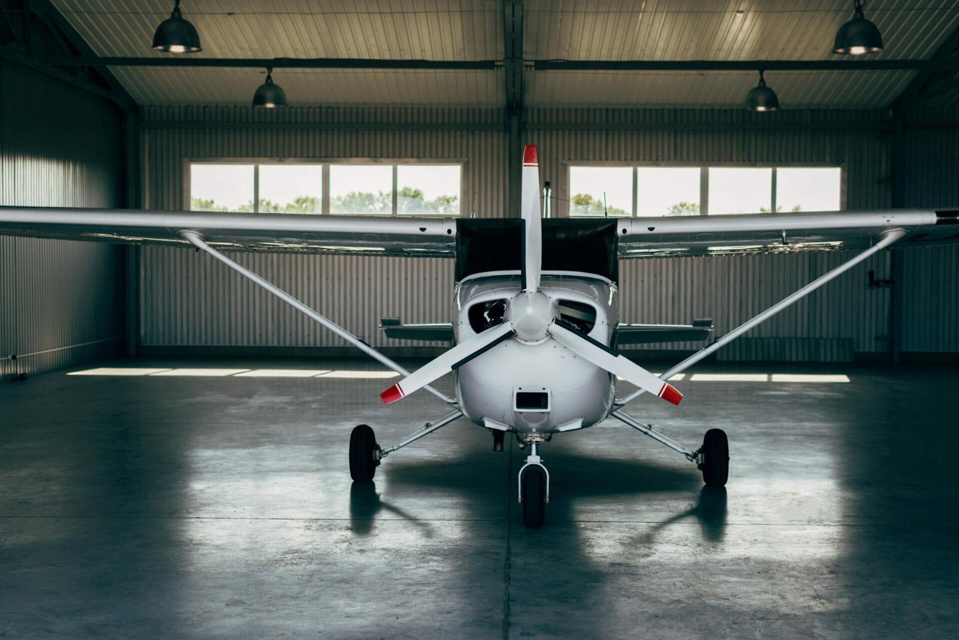 steel building airplane hangar
